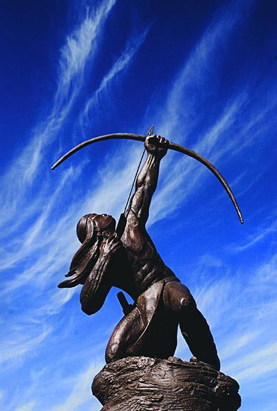 Allan Houser Sacred Rain Arrow bronze